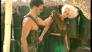 Blonde Hostages Getting Fucked By Uniformed Soldiers