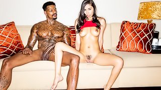 Good-looking white hottie Gianna Dior penetrated by a big black dick