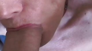 Blonde MILF Tied By Her Lover And Blow His Cock