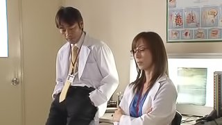 Japanese nurse and doctor have sex in a hospital