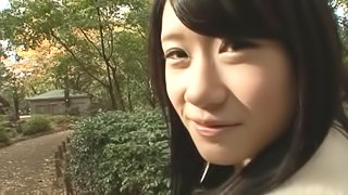 Quick public blowjob from a Japanese sweetheart makes him cum