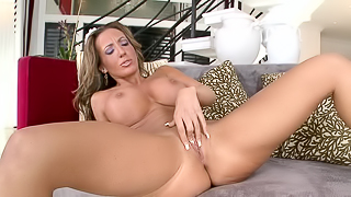 MILF blondie with big boobies gets pleased by her young lover