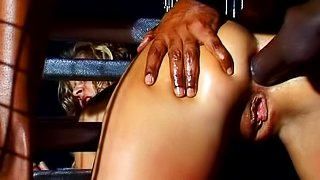 BDSM anal sex in cage with Sandra De Marco