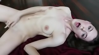 Teen step sister masturbrates for daddy