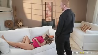 Amazingly hot mommy with big boobs Ava Adams nailed by an athlete