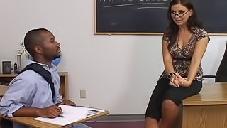 Maria Belucci is a naughty teacher ravished by a black dick