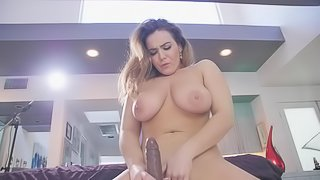 Natasha Nice Dildos Pussy and Speaks French in Bed