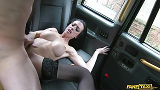 Skyler in Lady With Big Tits Black Stockings - FakeTaxi