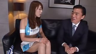 Model Gets To Know A Japanese CEO And Asks Him For A Sexual Job Interview!