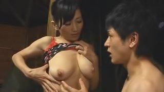 Japanese Milf Fucked From Behind With Cum On Her Tits