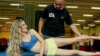 Fit flexible girl nailed in the ass