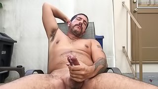 Sebastian Rio's outdoors jacking off