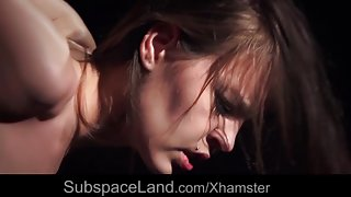 Bound girl handcuffed fucked in the hardest bdsm humiliation