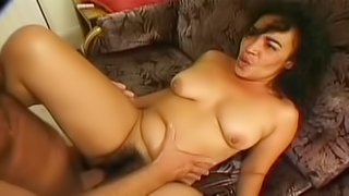 Hairy mature with curves boned hardcore