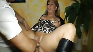 Chubby german MILF squirts while fisted - Pussy from MILF-ME