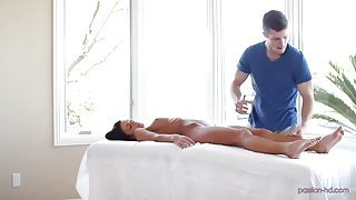 Perfect massage and deep-cock riding & sucking
