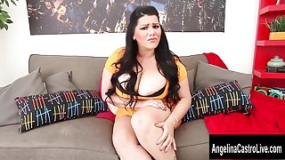 Cuban Cocksucker Angelina Castro Gets Her Big Tits Glazed