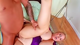 Busty hottie Samantha 38G sucks a dick and gets fucked rough