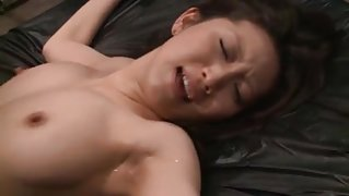 Tied up Asian girl gets fucked in jail