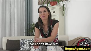Office amateur doggystyled in euro audition