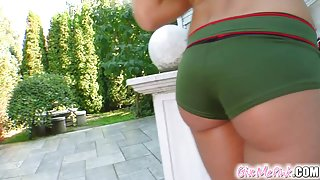 This super sexy girl scout just loves to stroke her pussy.