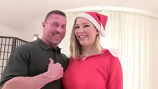 Dillon Day bangs Gina Delight's hairy snatch from behind