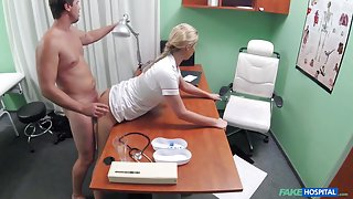 Nikky in Sexy nurse gets creampied by doctor - FakeHospital