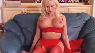 Busty Blonde Gets Cum In Her Mouth
