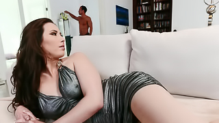 A bitch that craves large cock is getting one large one in her ass