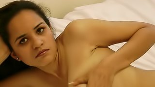 Indian beauty's sexy solo cam show