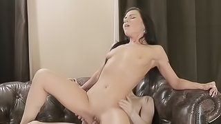 Brunette Marina was fucked in her mouth