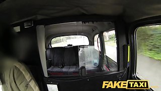 FakeTaxi: Juvenile hotty with large milk shakes tempted by local cabby