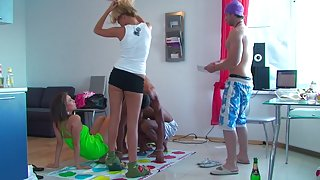 Ally & Anabell & Ivana Sugar & Milia in college orgy with a lot of hardcore fucking