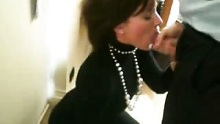 French wife sucking the balls and the cock