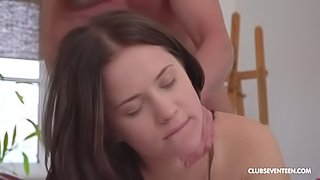 Lovely small-tit hottie Nikki Hill is getting fucked on the first date