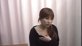 Redhead Japanese whore gets drilled well during a pussy exam