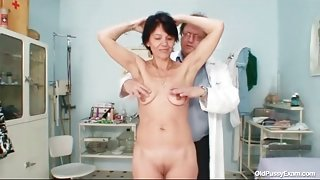 Deep look inside her pussy during gyno exam