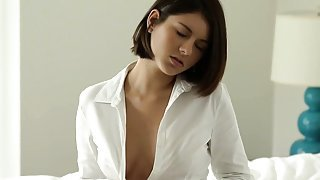 Perfect erotic movie of chick babe