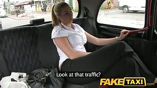 FakeTaxi: Hawt golden-haired police woman in taxi revenge