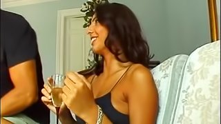 Sexy brunette with big tits loves to take cocks and fingers in tight asshole