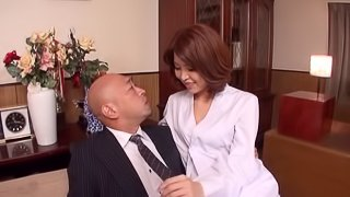 japanese girl in fishnet stockings does titjob and pounded doggystyle