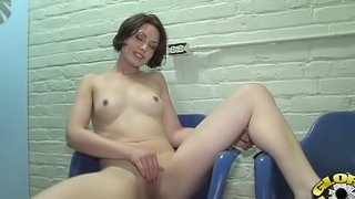Brunette Sarah Shevon takes hardcore cock in her mouth and pink slit via hole