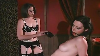 Busty Brunette Whipped By Her Dominatrix