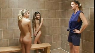 Dirty Milf Coach training Lesbian Teens