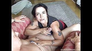 Sexy old spunker is a super hot fuck and loves to eat cum