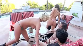Two Asian guys are in luck today as they get to be in an orgy