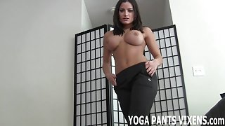 My ass is hot but in yoga pants it looks amazing JOI