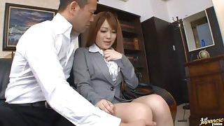 Fucking In The Office Has Riona Minami Drinking Cum