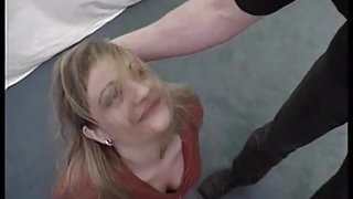Teen blonde slave girl humiliated by her master
