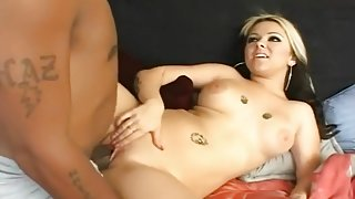 Tight White Pussy Strained By Black Dick